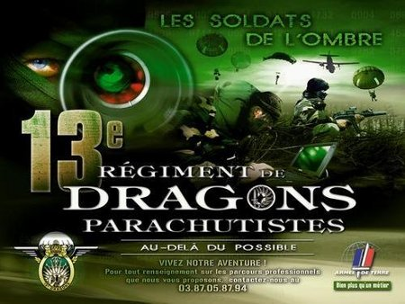 Affiche de recrutement du 13e Régiment de Dragons parachutistes