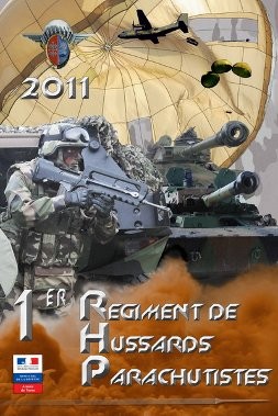 Affiche de recrutement du 1er  Régiment de Hussards parachutistes